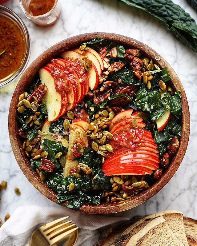 Nutty Harvest Honeycrisp Kale Salad