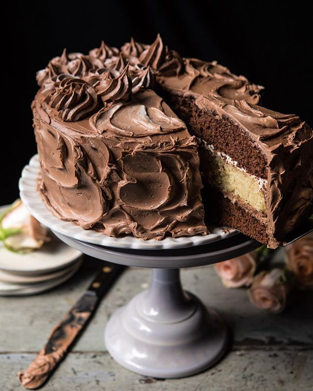 Vanilla Chocolate Layer Cake