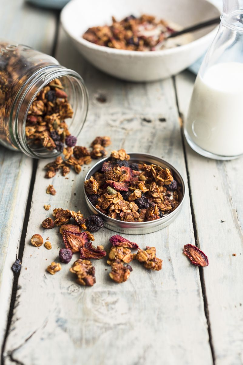 Homemade Granola with Nut Butter and Cacao Nibs