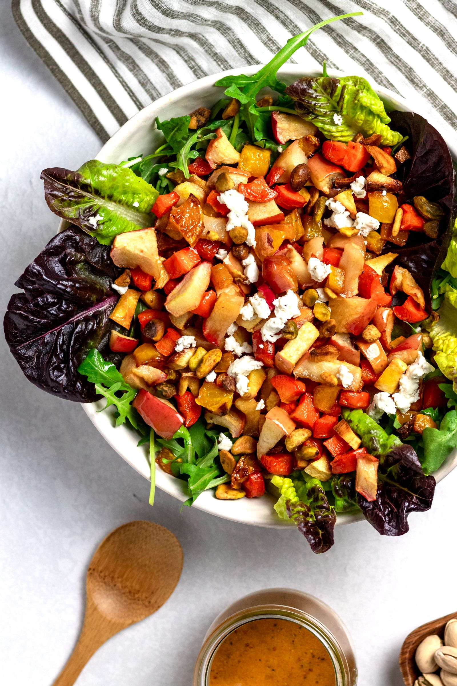 Roasted Root Vegetable Salad with Turmeric Honey Dressing