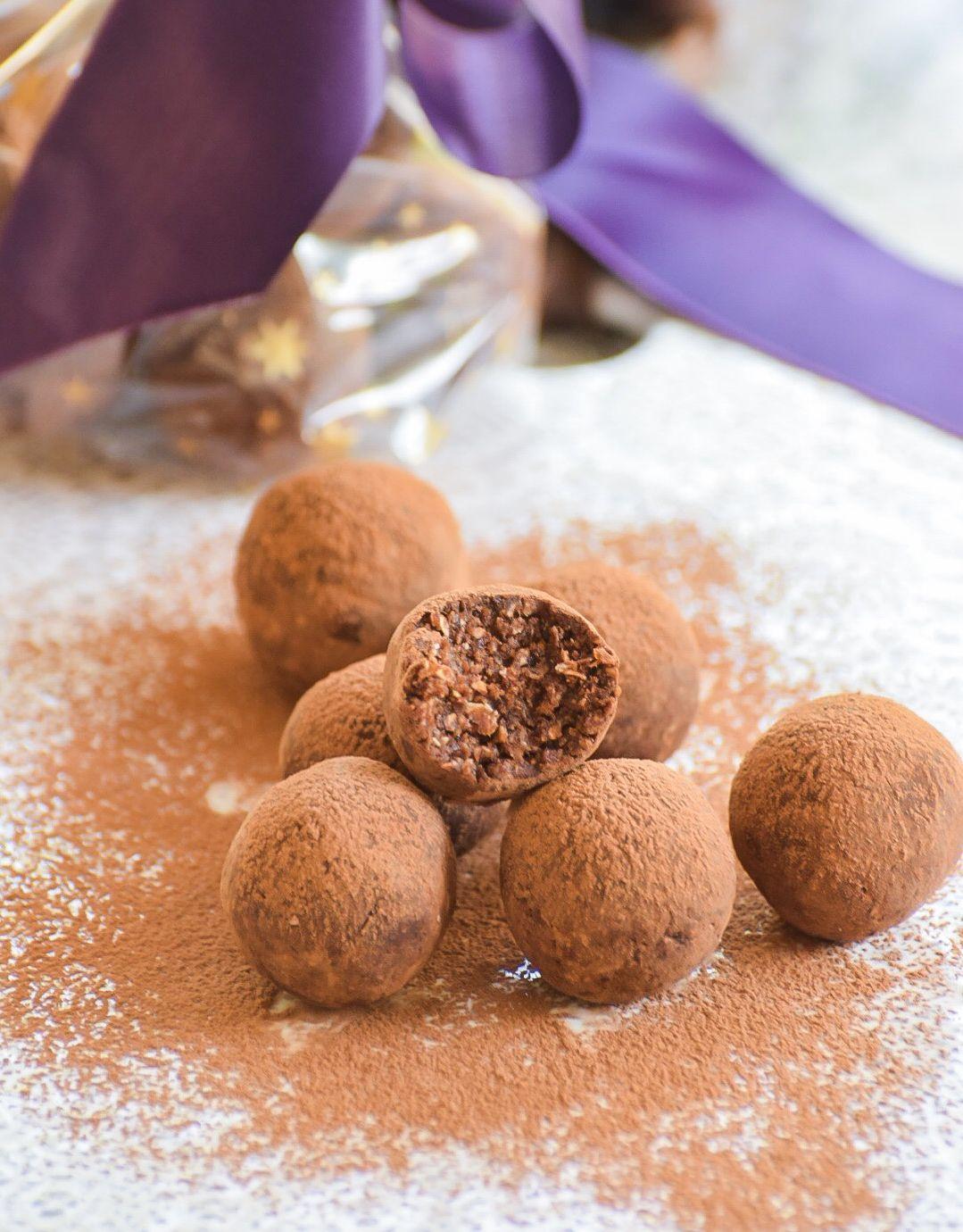 Hazelnut Date Chocolate Truffles