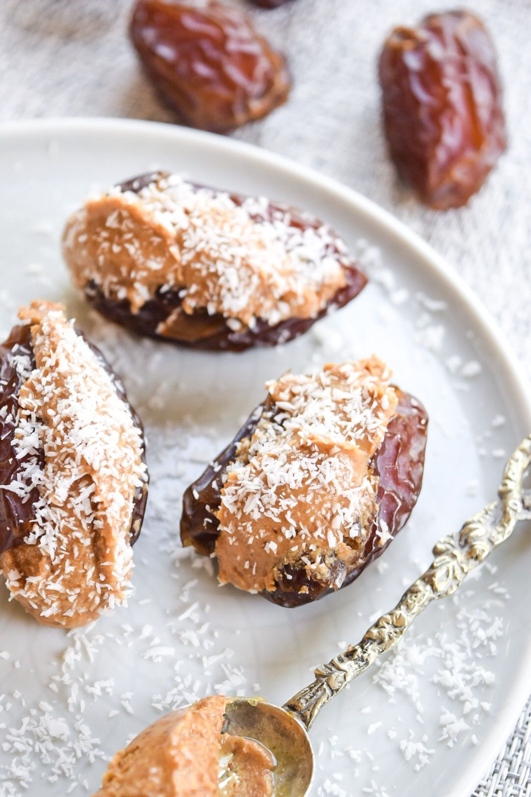 Stuffed Dates with Coconut