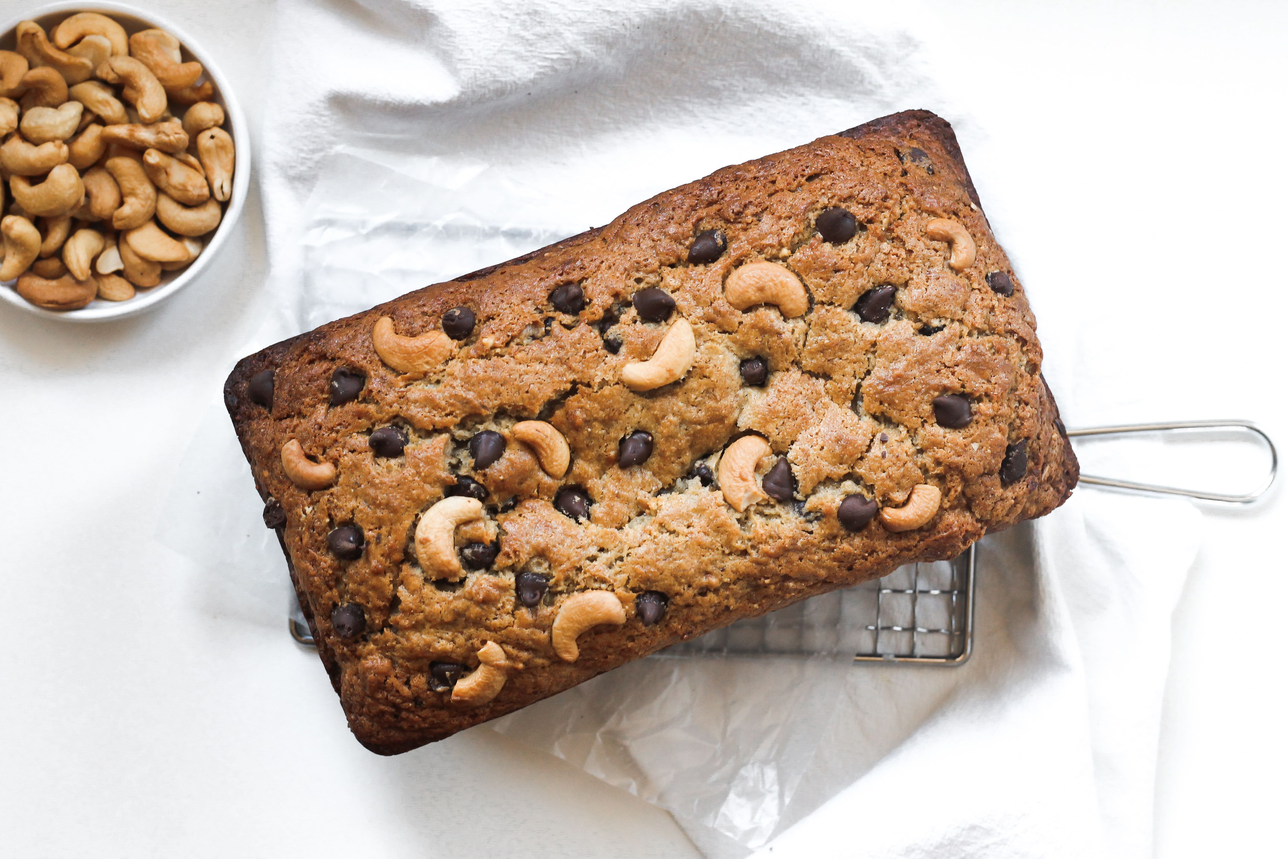 Banana Bread with Cashews and Chocolate Chips