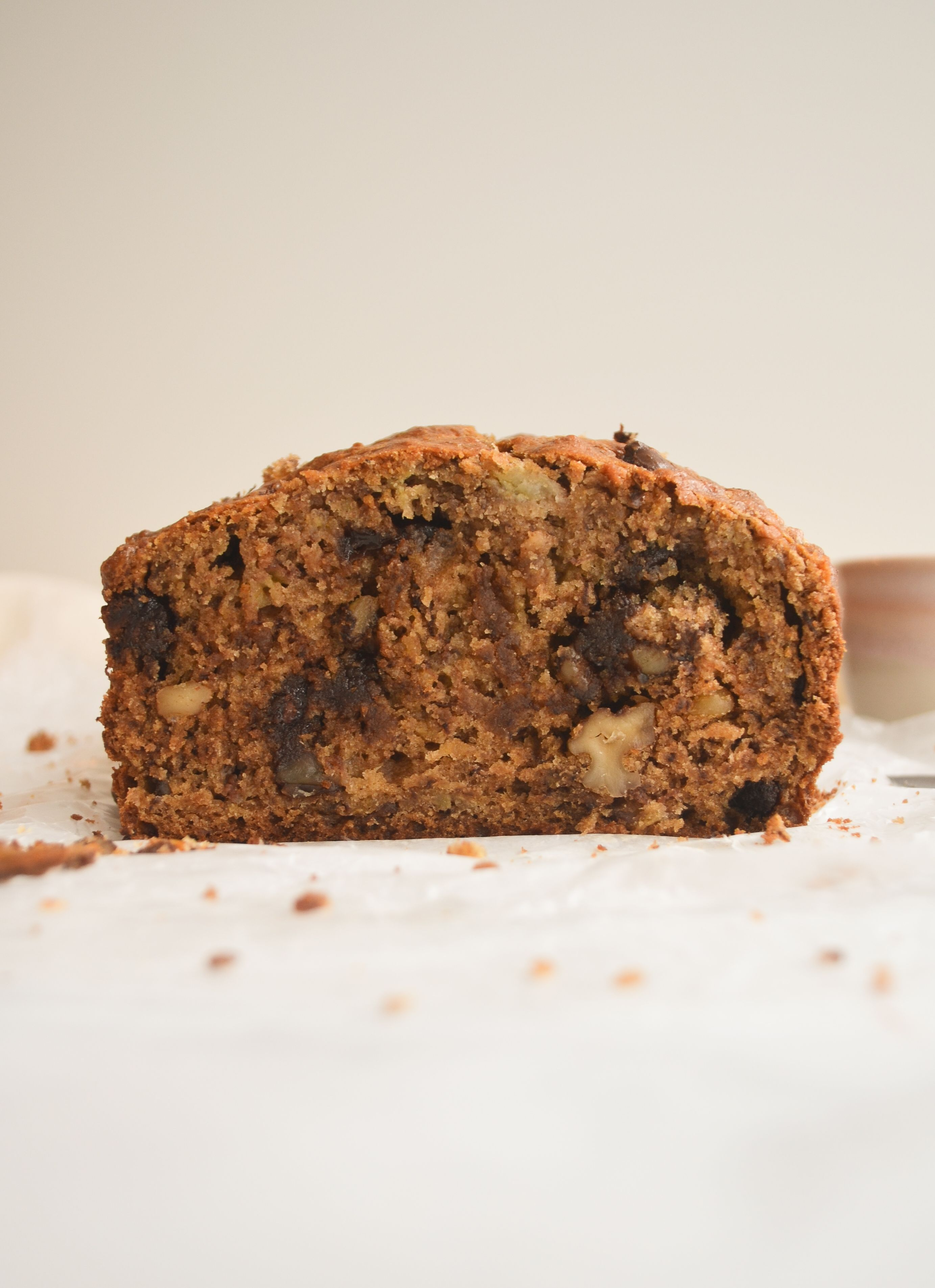 Banana Walnut Bread with Chocolate Chips