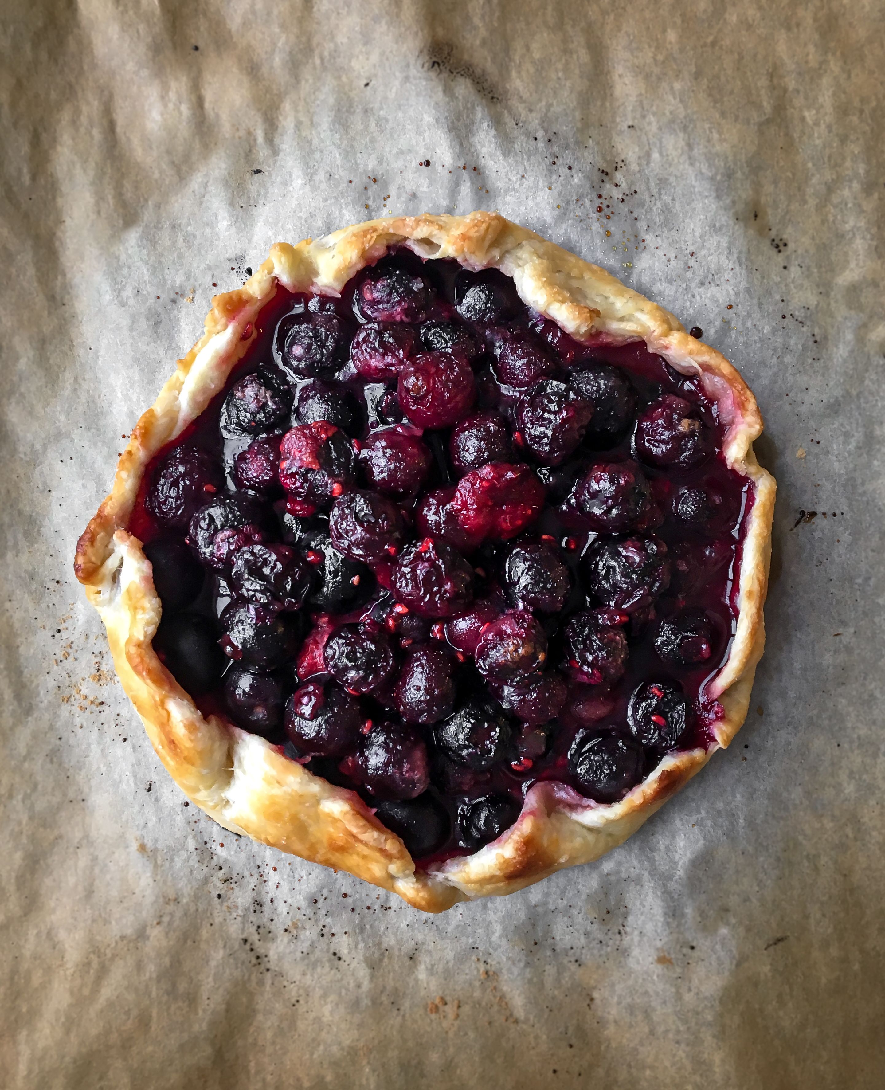 Blueberry and Raspberry Galette