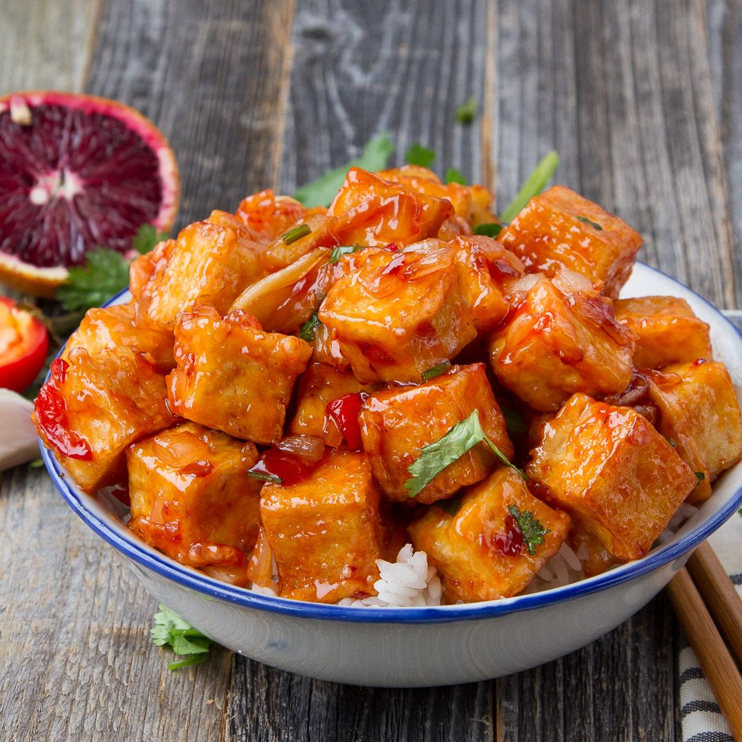 Spicy Blood Orange Tofu