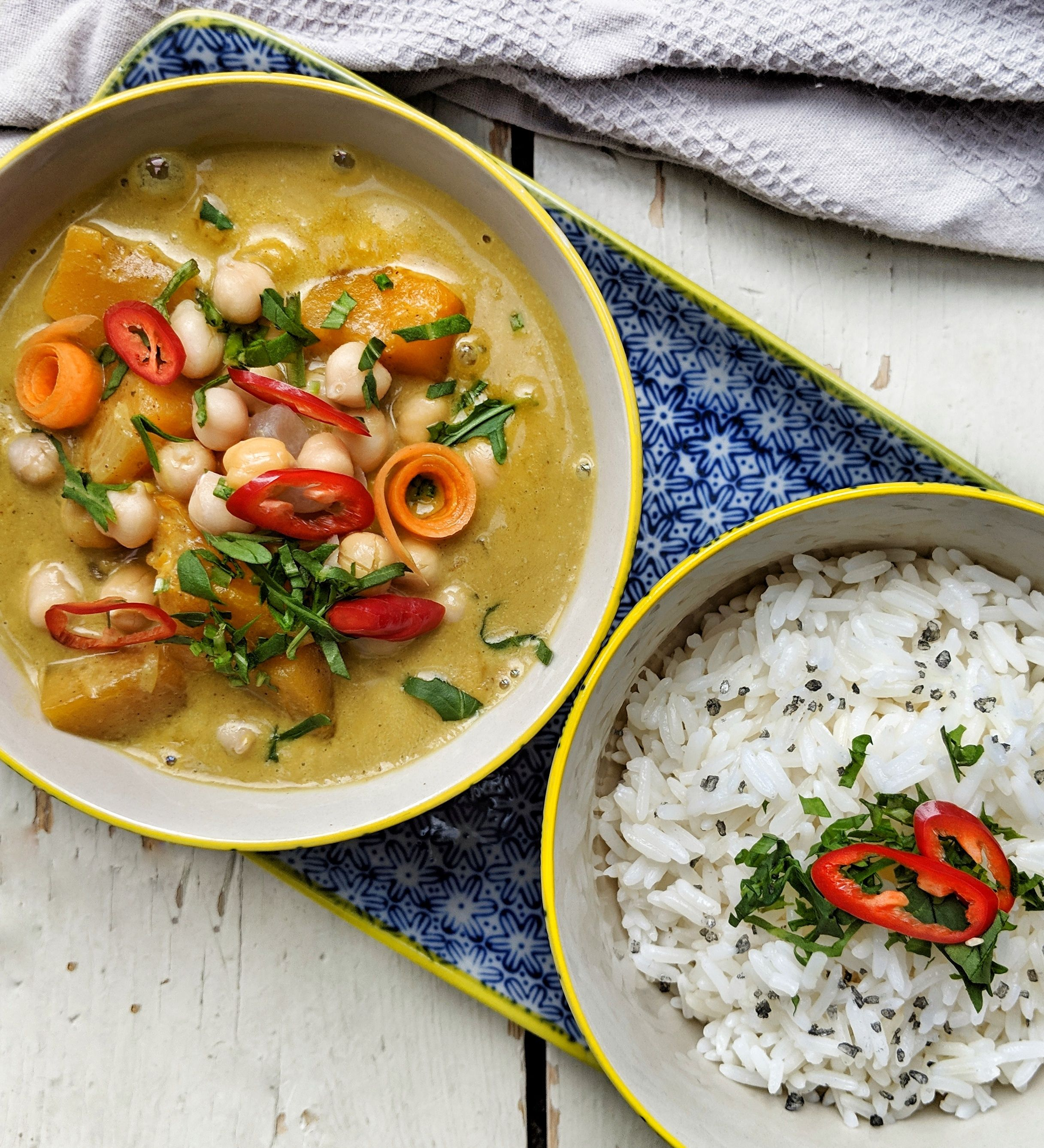 Butternut Squash Coconut and Chickpea Curry