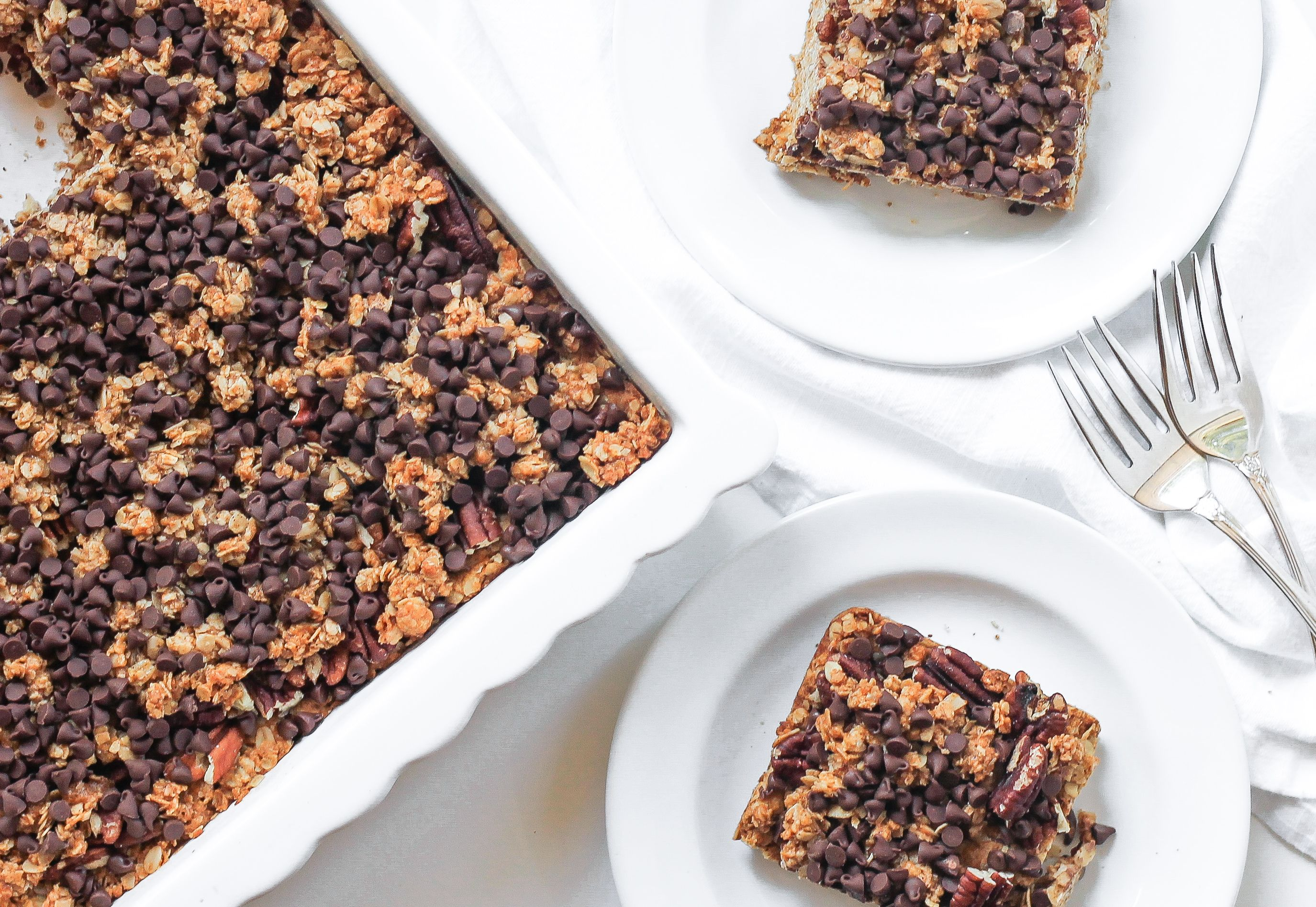 Baked Pecan Oatmeal Squares