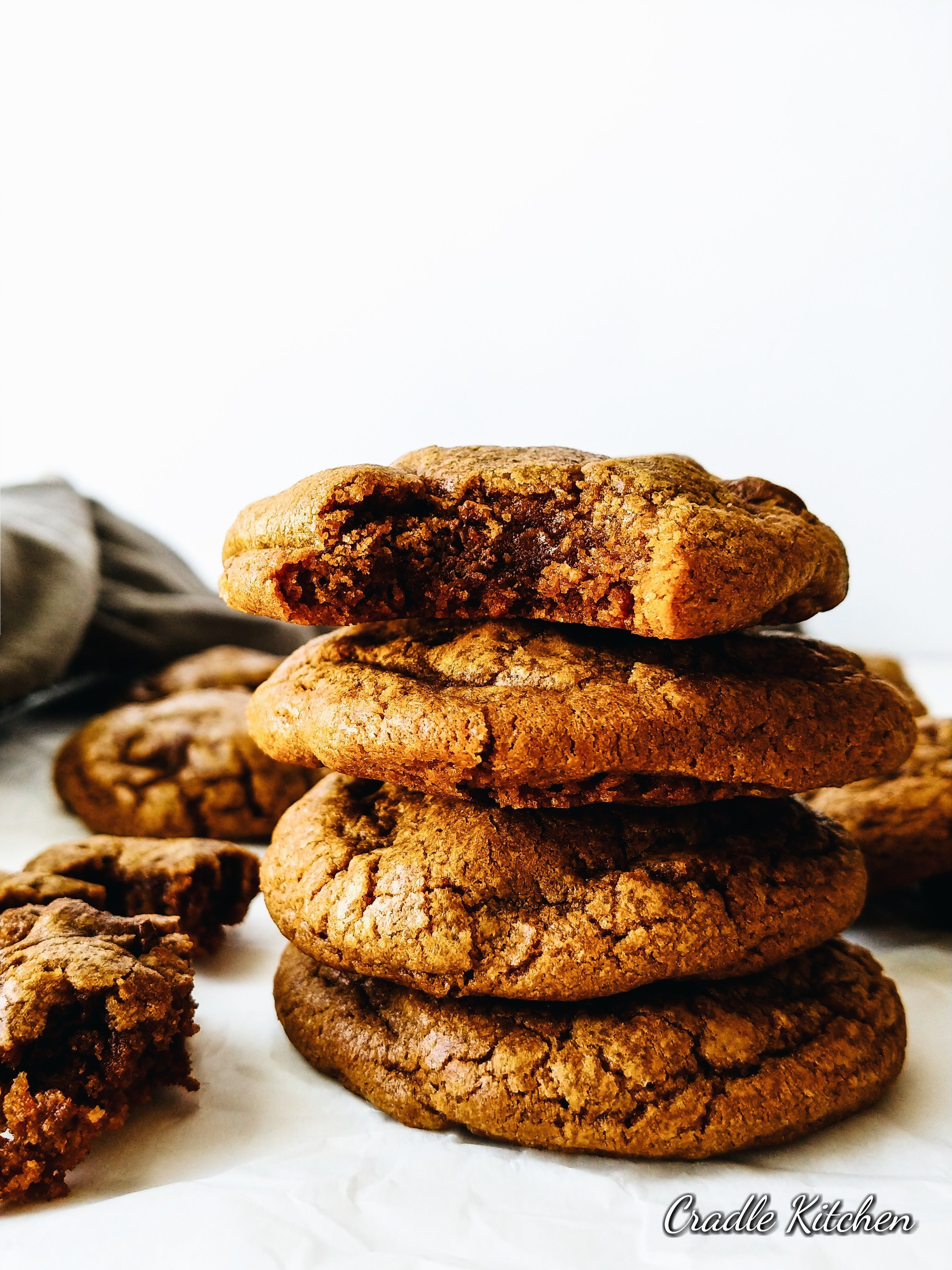 Decadent Hazelnut Fudge Espresso Cookies