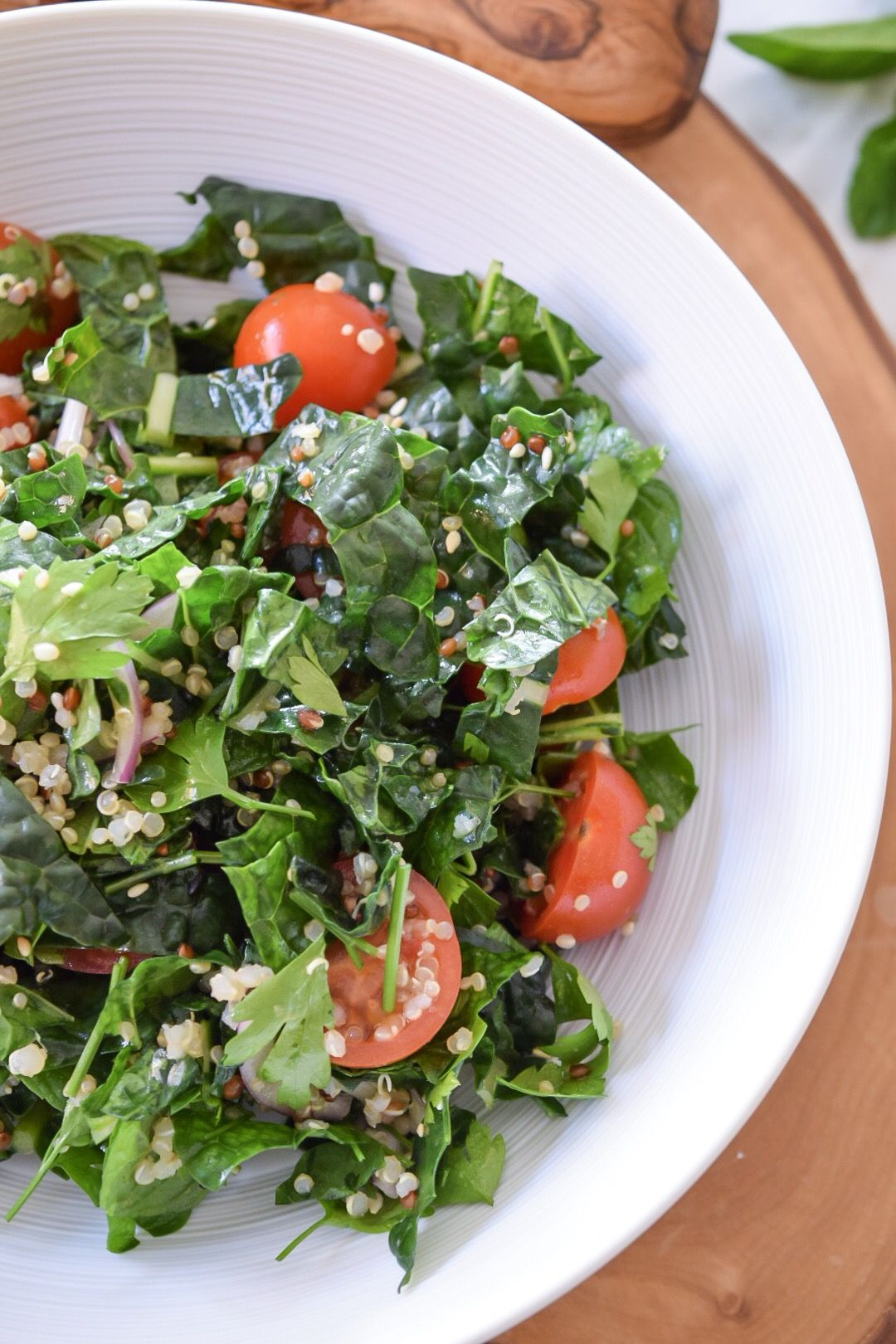 Minty Quinoa Salad with Tuscan Kale