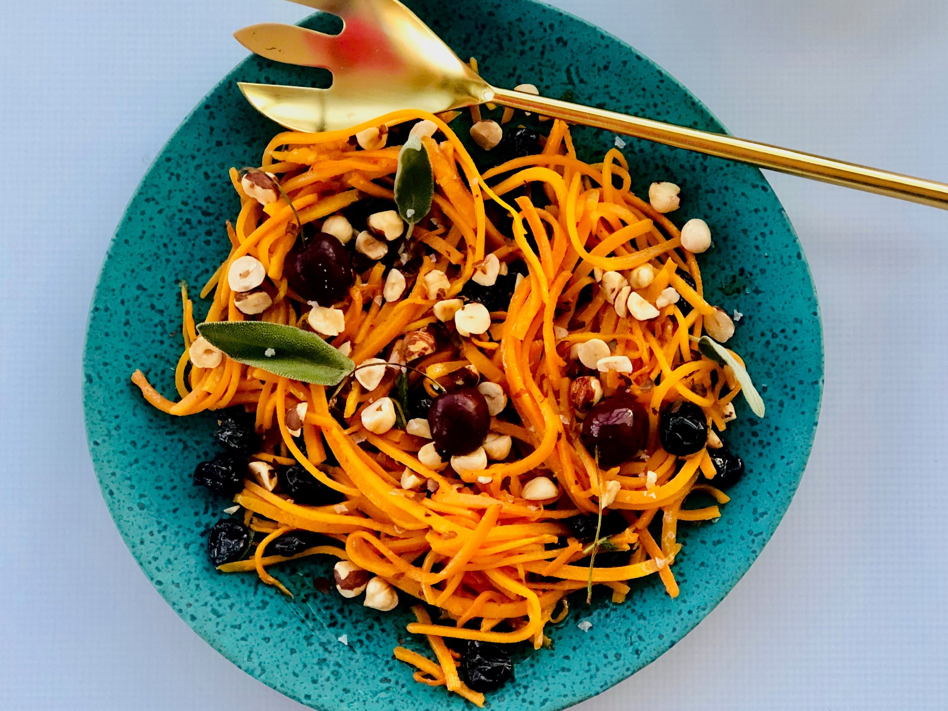 Butternut Squash Salad with Sage Brown Butter and Cherries