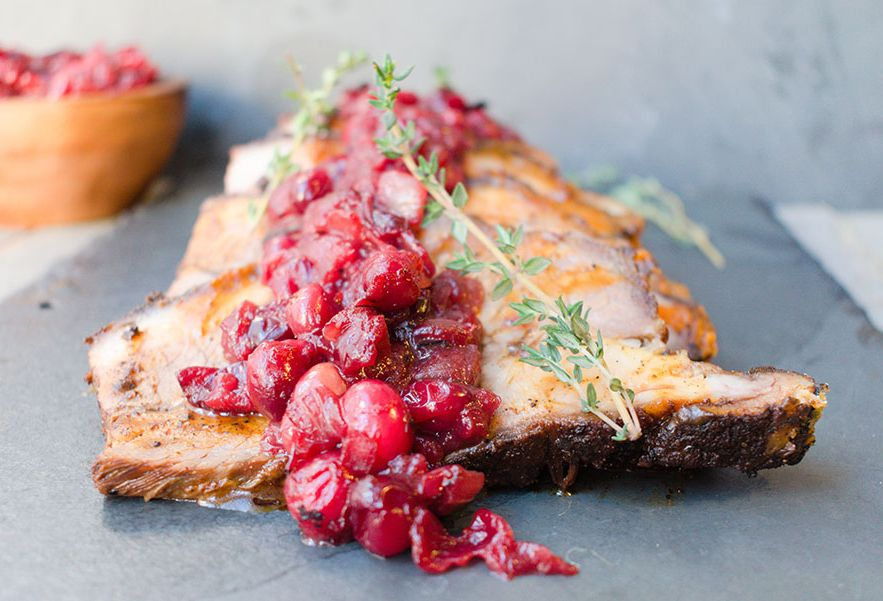 Braised Brisket with Cranberry Onion Jam