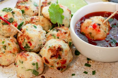 Spicy Baked Shrimp Balls