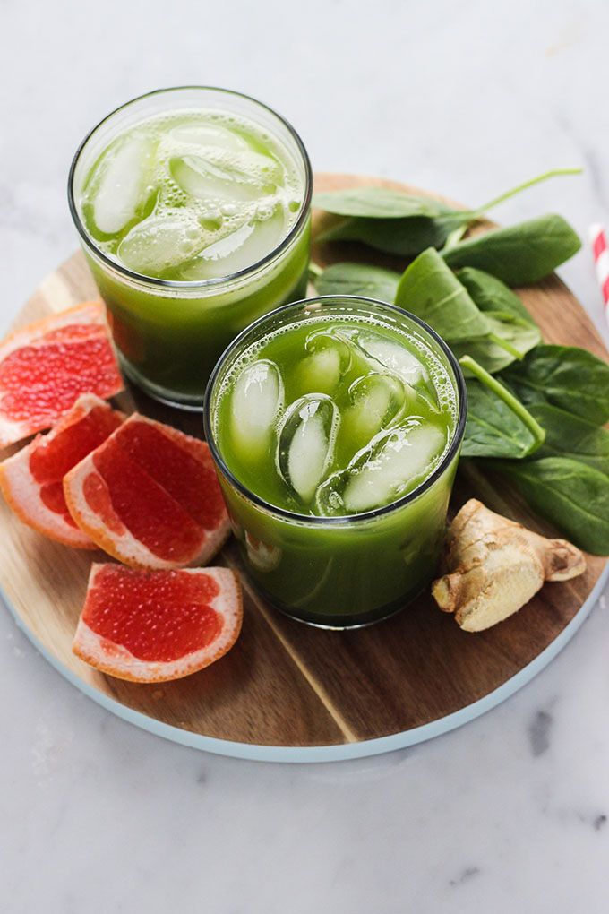 Green Juice and Gin over Ice