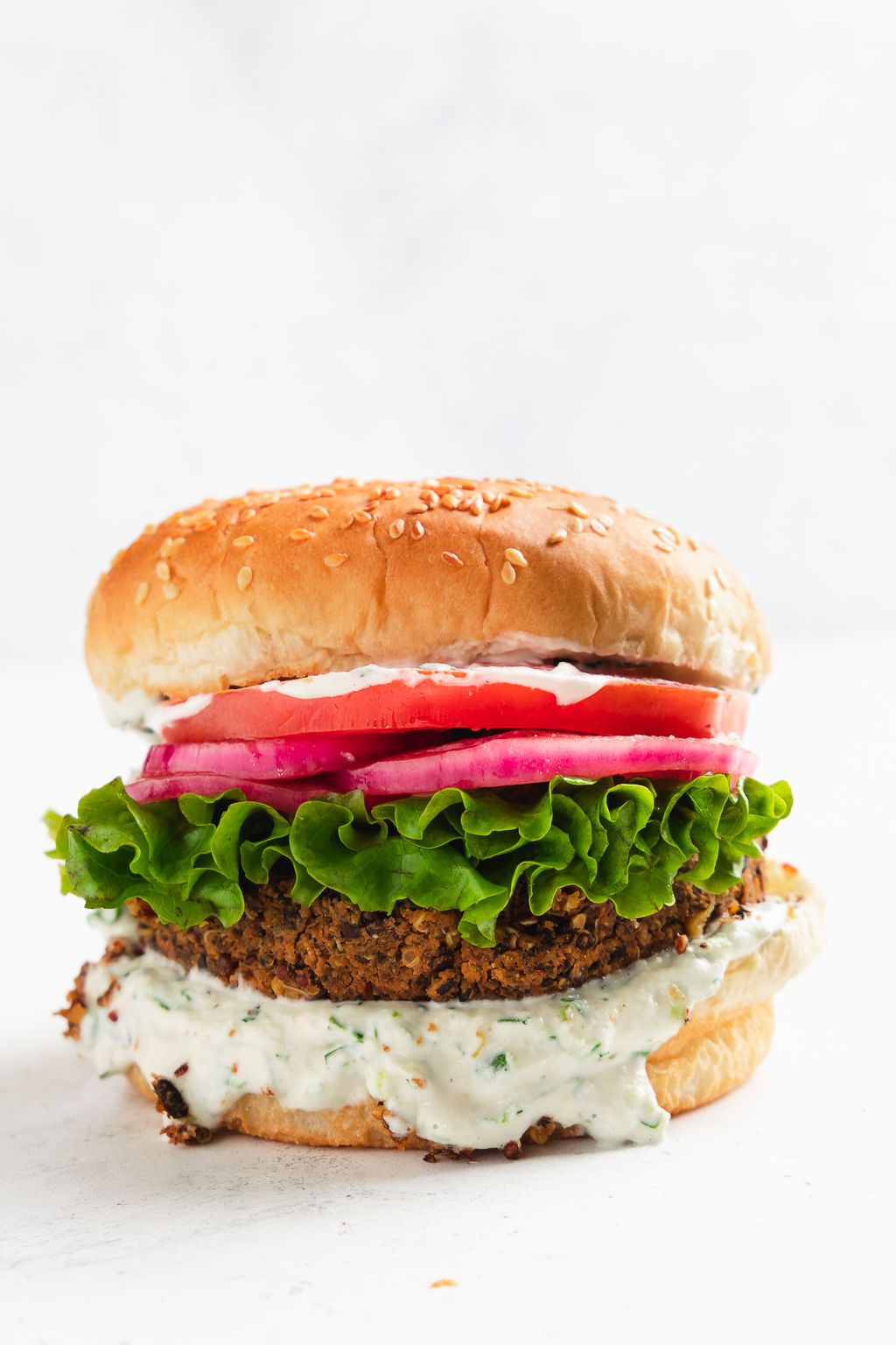 Chipotle Black Bean Burgers with Cashew Ranch
