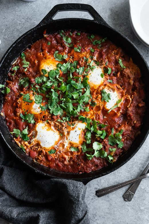 Whole30 Shakshuka with Chorizo
