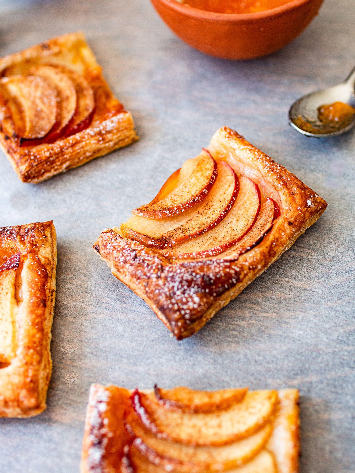 Apple Cinnamon Puff Pastry Squares