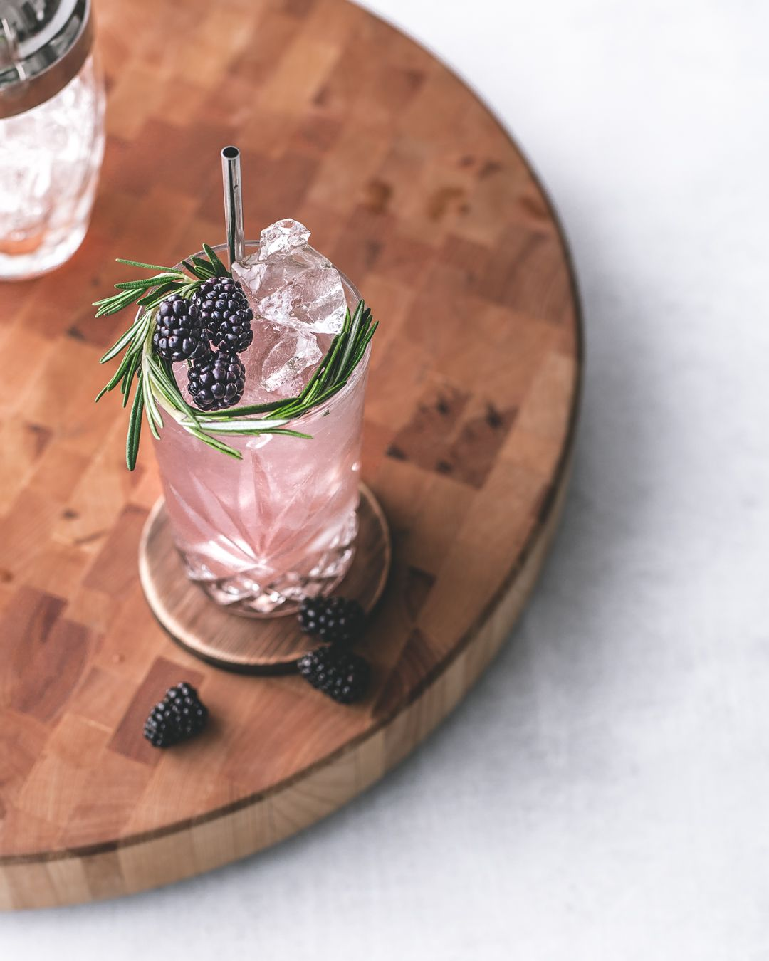 Rosemary and Berry Gin Collins