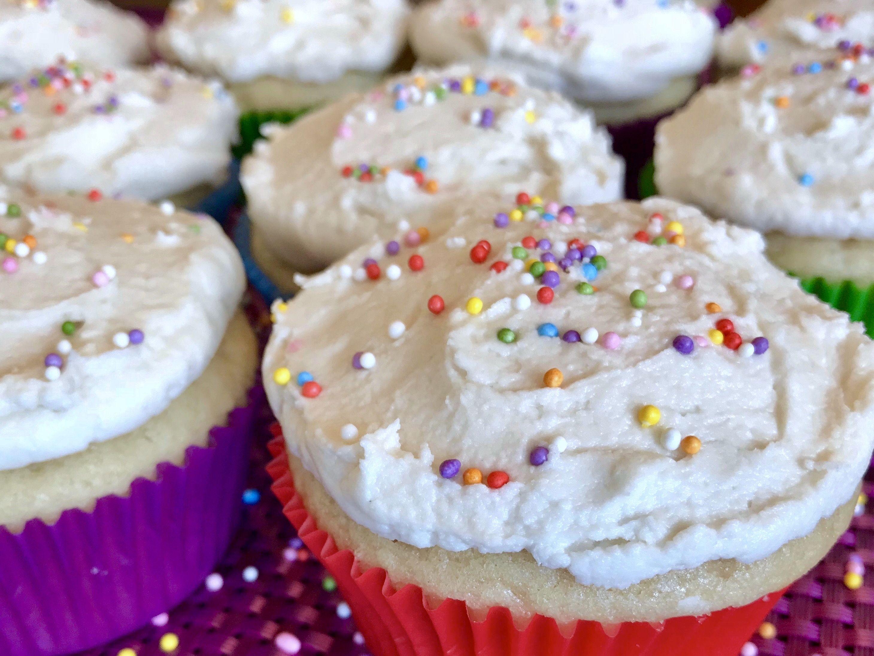 Perfectly Vanilla Vegan Cupcakes (with Gluten Free Option)