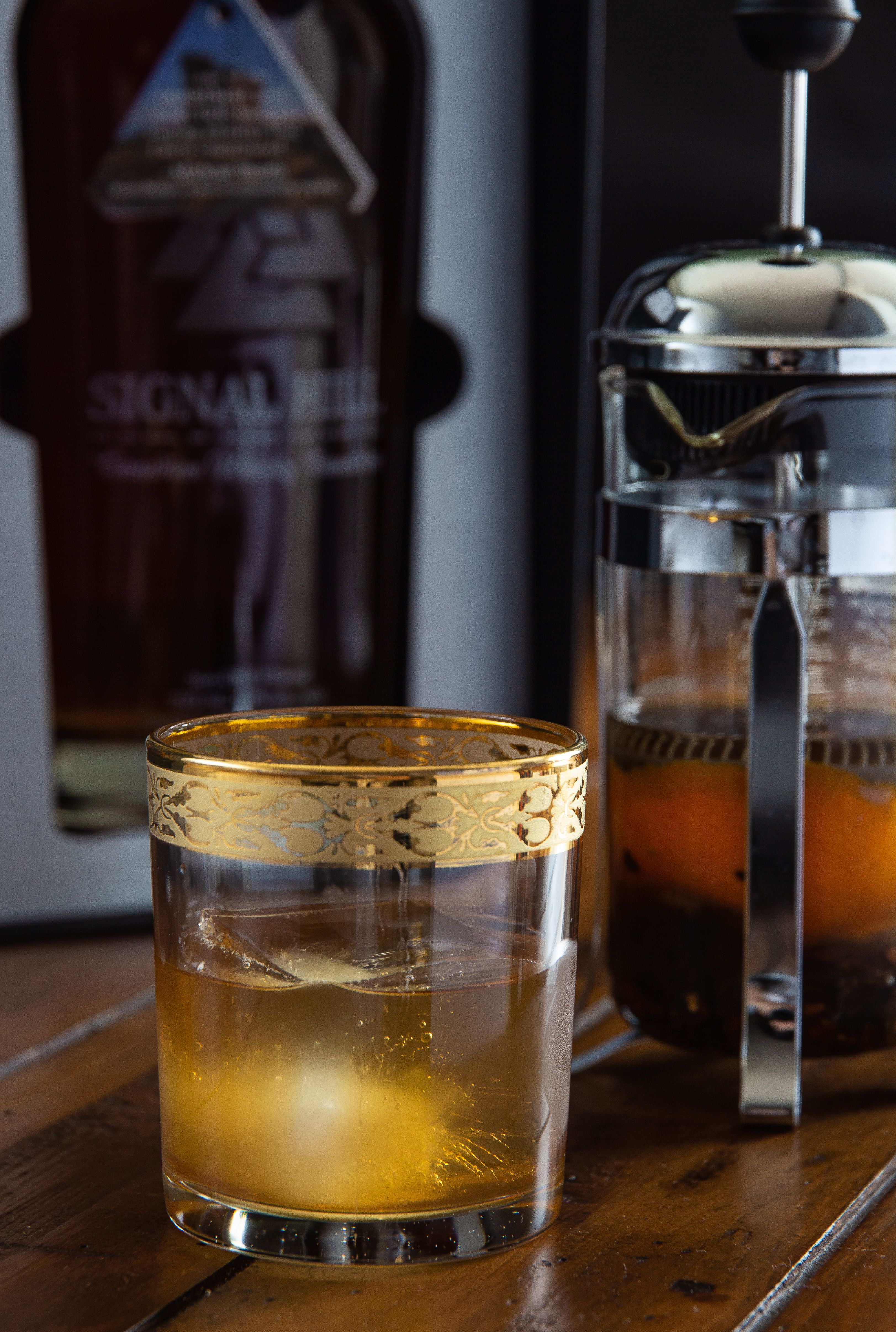 Chai Oolong and Whiskey Cocktail
