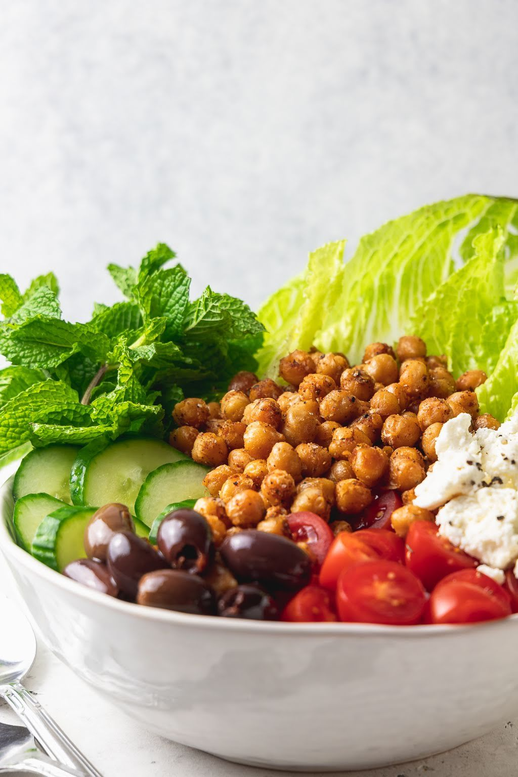 Greek Salad with Spiced Chickpeas