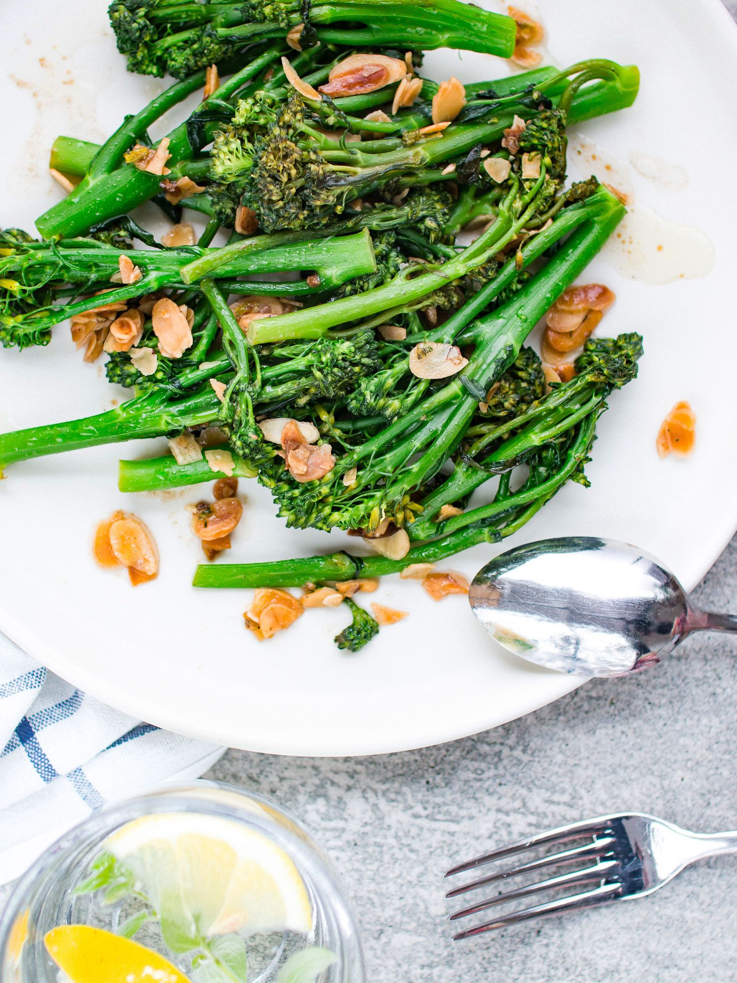 Broccolini with Garlic and Almonds