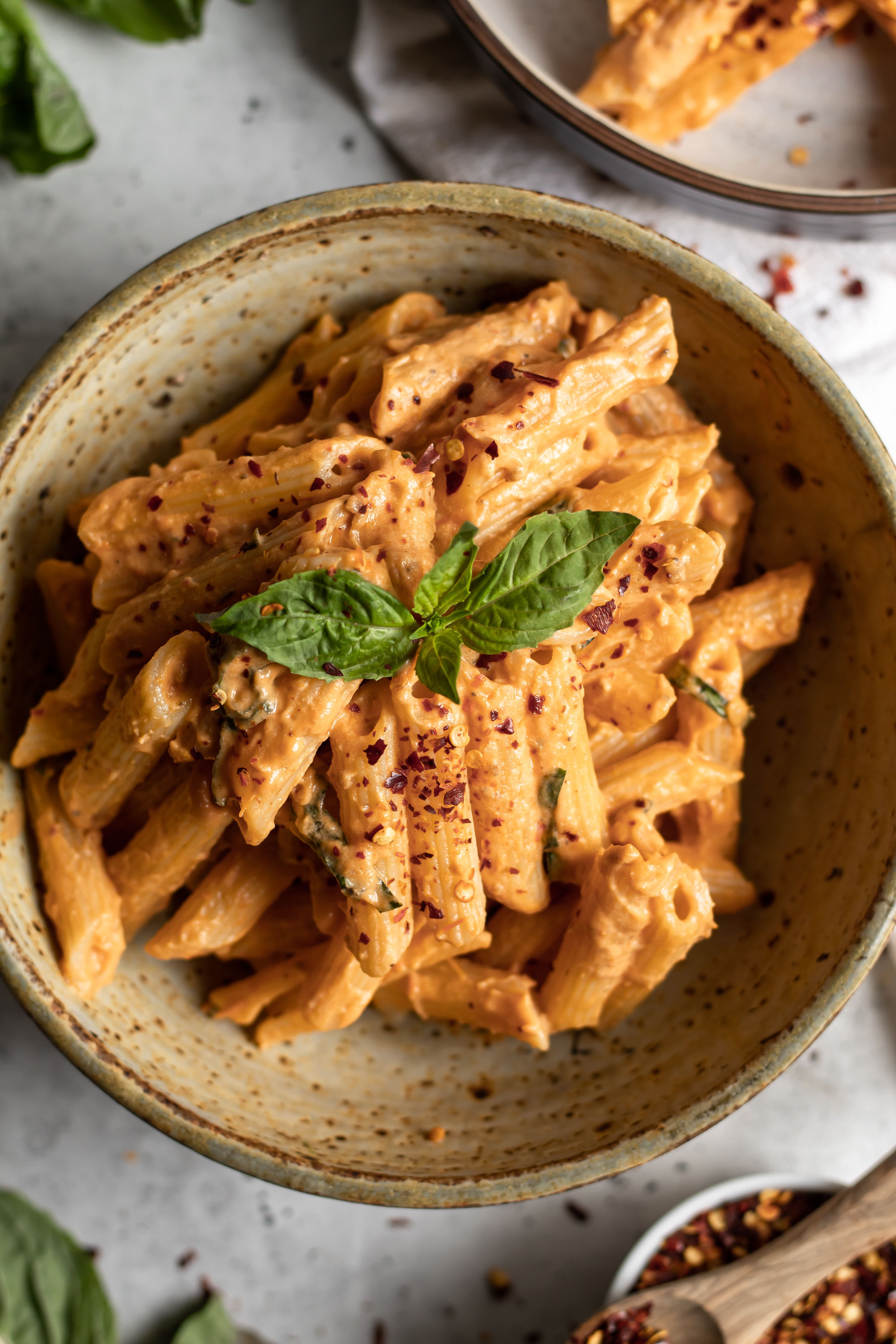 Creamy Roasted Tomato Sauce with Penne