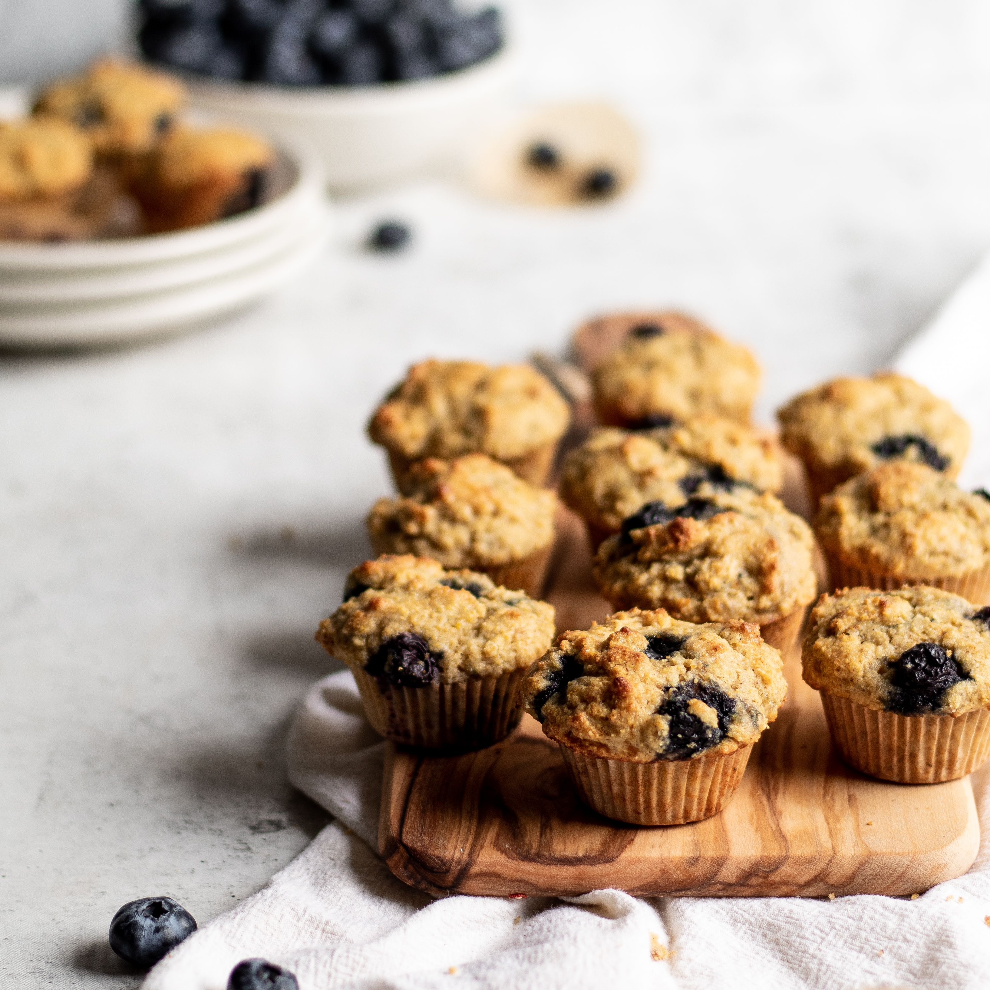 Mini Cornmeal Muffins with Blueberries