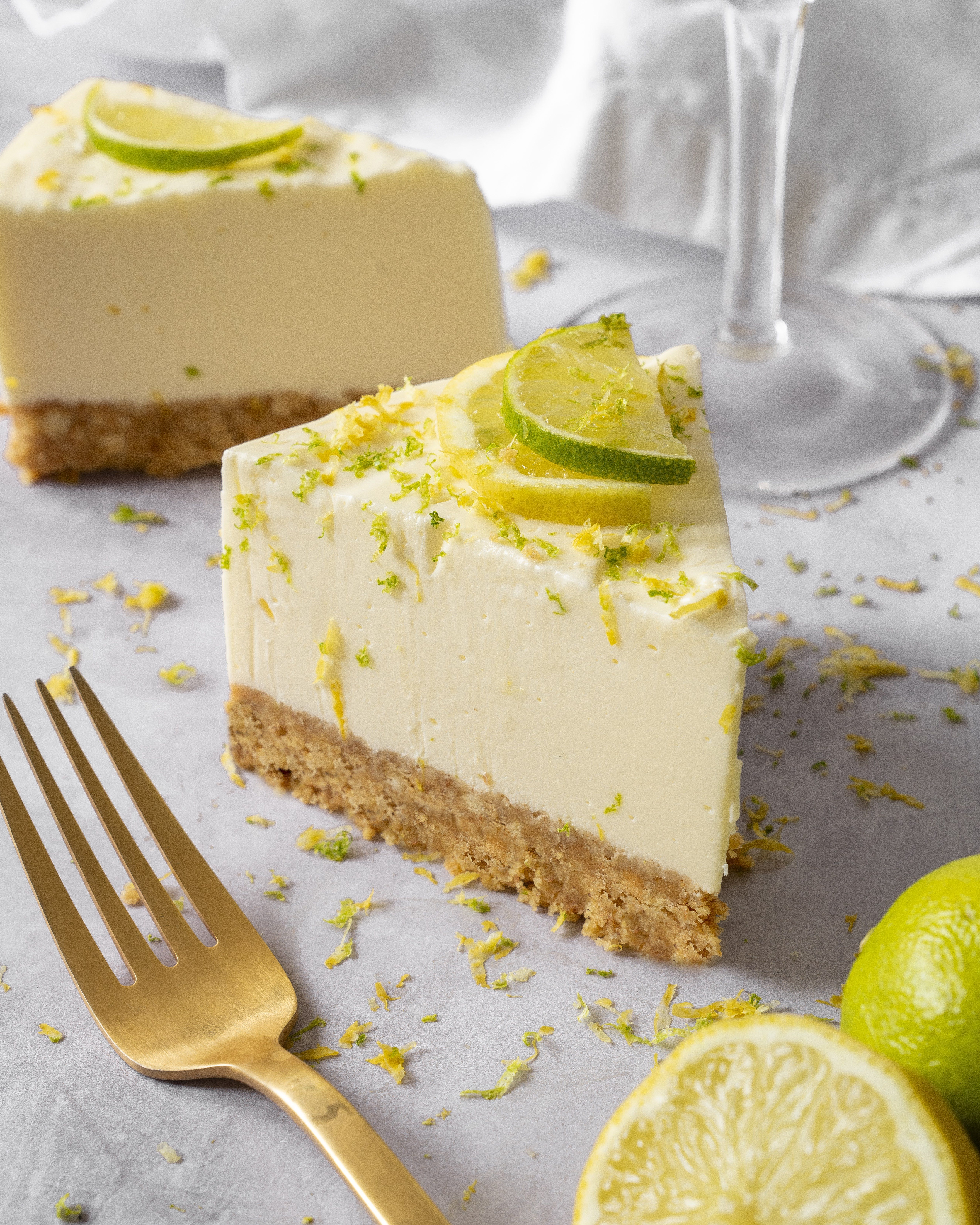 Gin and Tonic No Bake Cheesecake