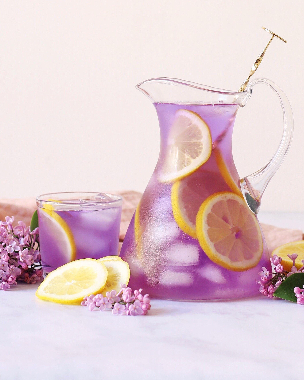 Butterfly Pea Tea & Lemon Infused Water