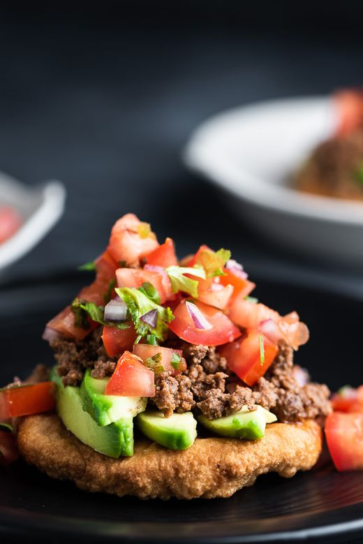 Beef Tacos with Fried Cassava Bread
