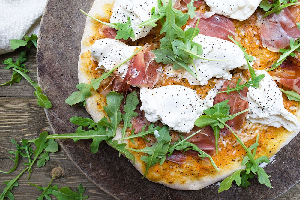 Margherita Pizza with Yellow Tomatoes
