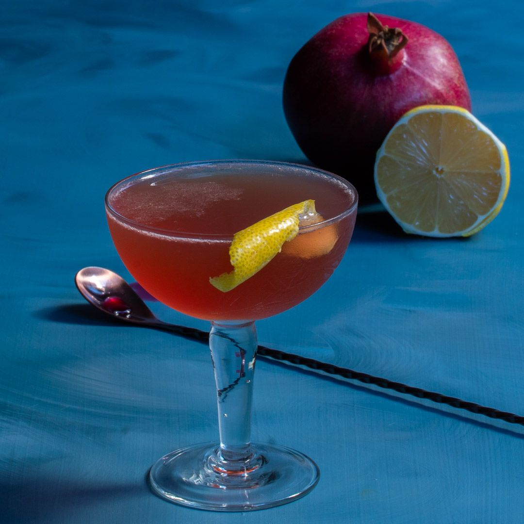 Harry's pick me  up cocktail with homemade grenadine