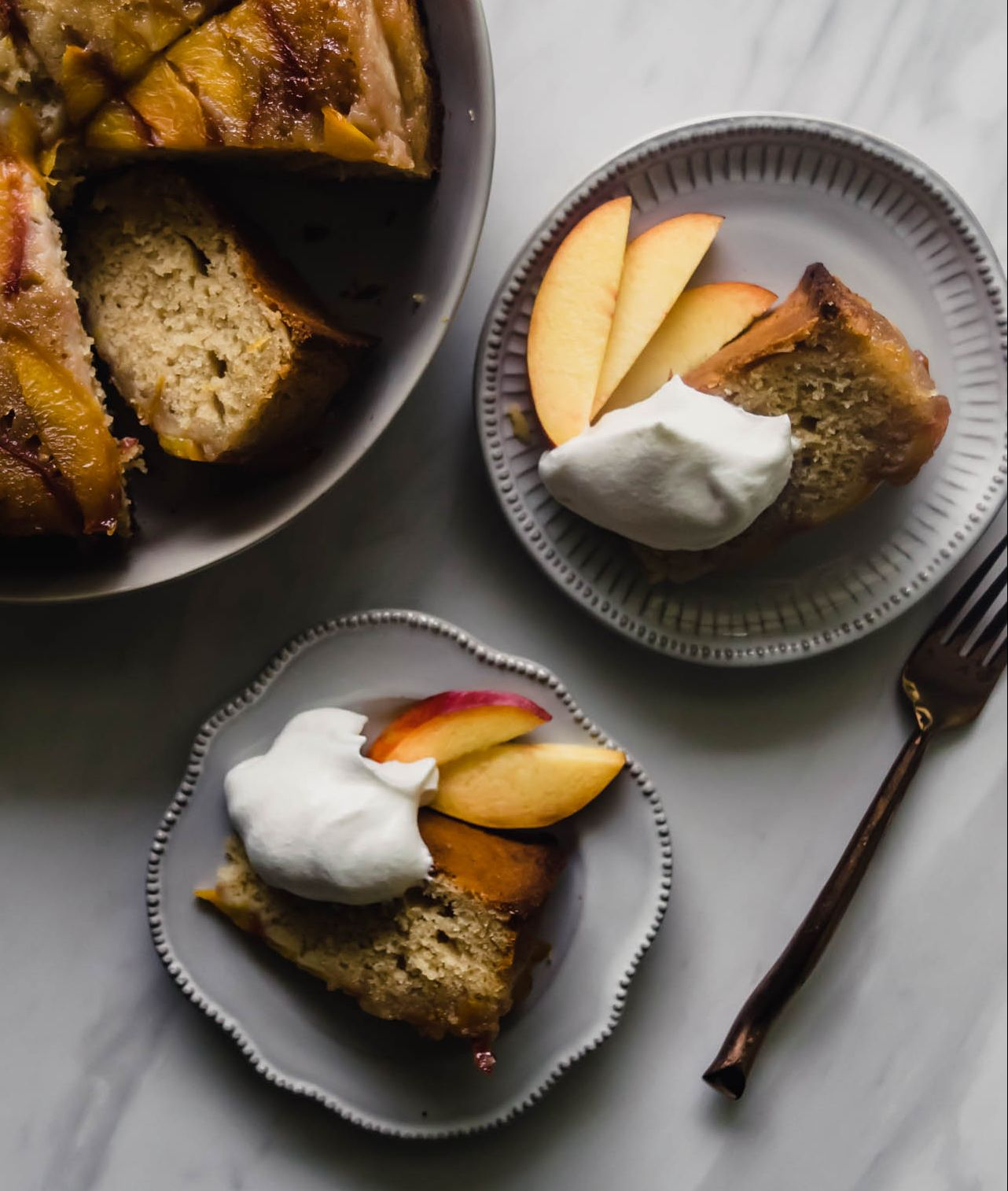 Browned Butter and Nectarine Upside Down Cake