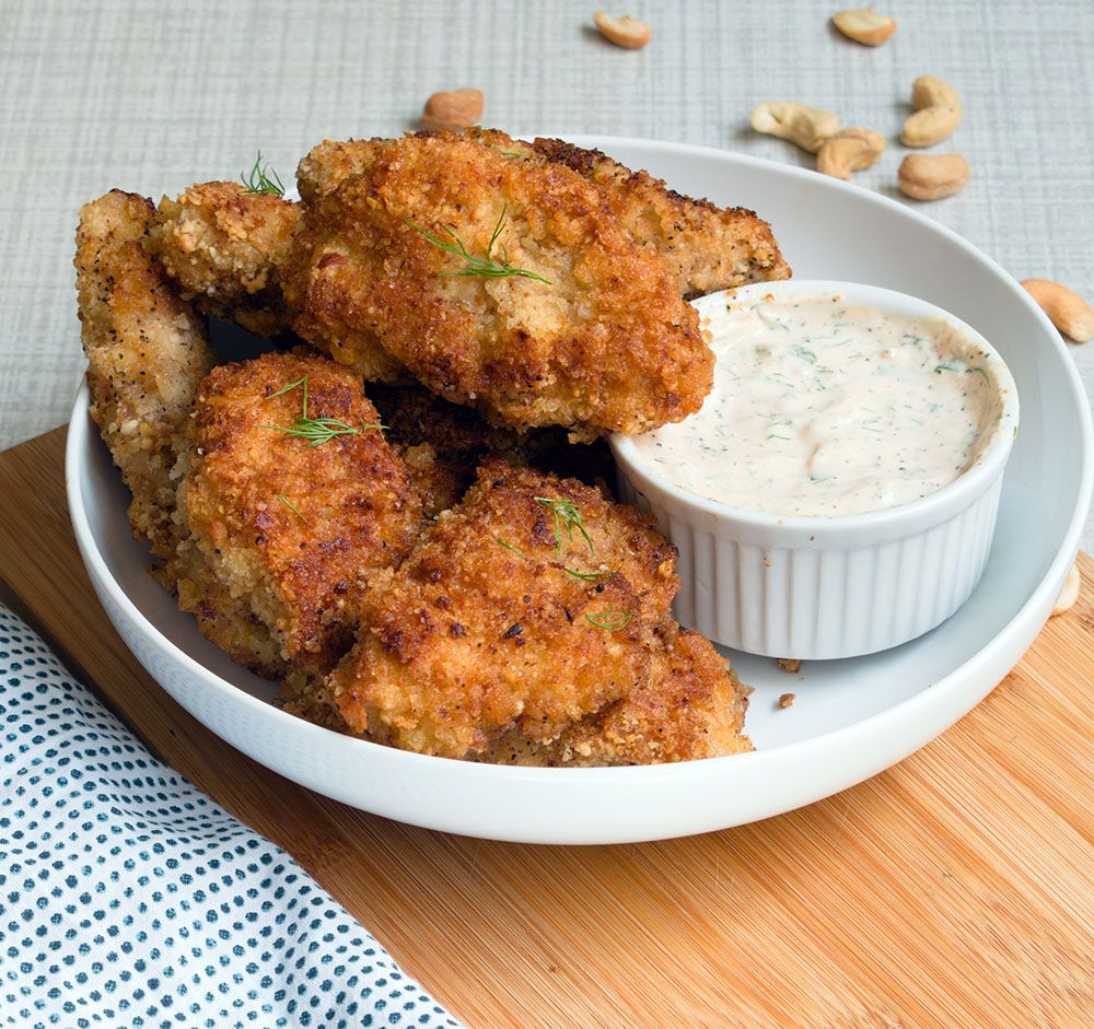 Chicken Tenders with Sumac and Spicy Ranch