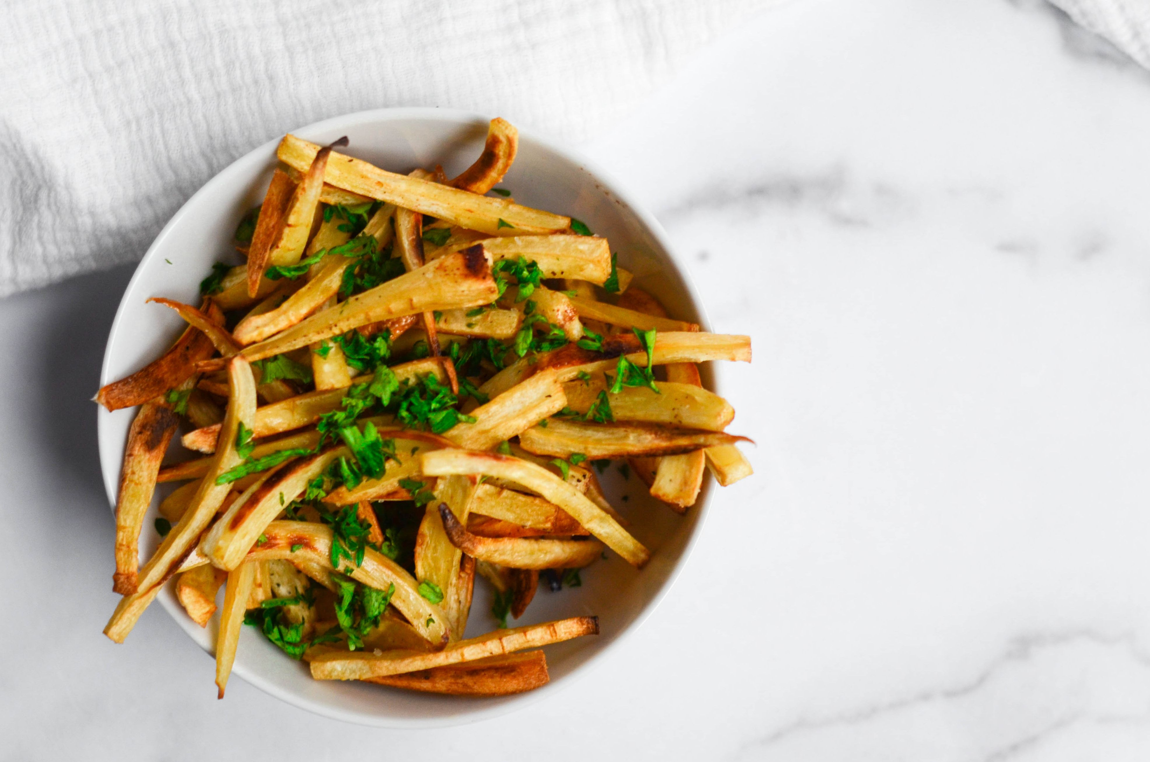 Crisp Parsnip Fries with Thyme