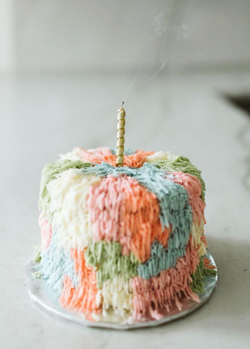 Tremendous Champagne Confetti Birthday Cake Recipe By Hemali Patel The Feedfeed Funny Birthday Cards Online Elaedamsfinfo